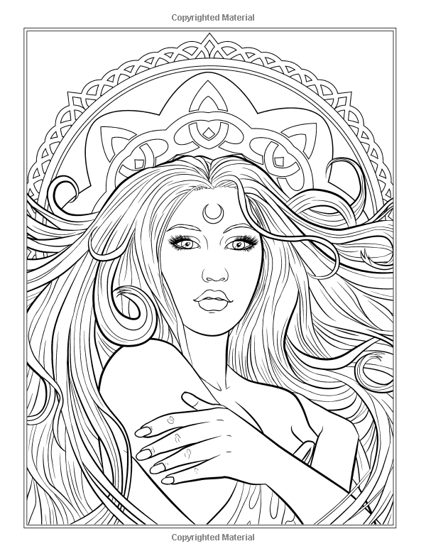 Image Detail For Coloring Page With Stunning Elf Queen