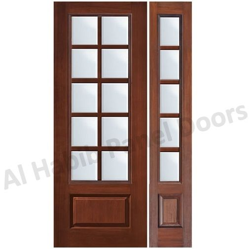 Classic Wood Door Design With Glass Hpd481 Glass Panel Doors Al Habib Panel Doors Door Design Glass Panel Door Wood Doors