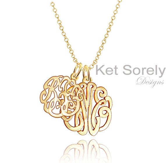 3db50a7ae8 Personalized Mother-Child Initials or Couples Monogram Necklace (Order Any  Initials) - Karat Gold, Silver or 14K Goldfilled on Etsy, $99.00