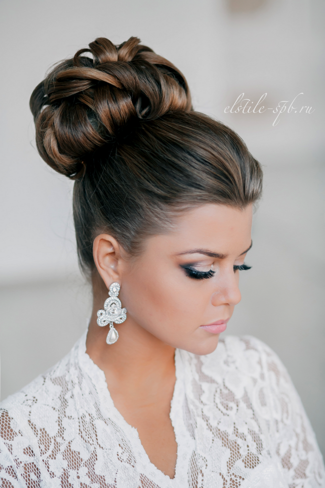 Awesome Updo Wedding And Big Earrings On Pinterest Hairstyle Inspiration Daily Dogsangcom