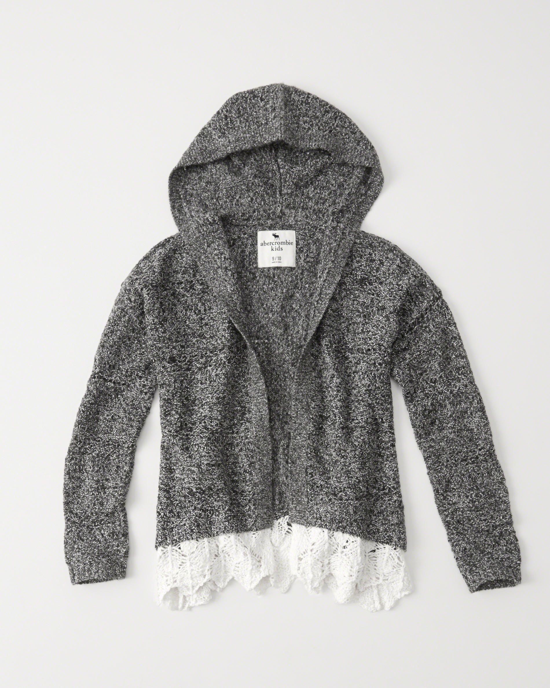 cardigan avec ourlet dentelle | Nice knits | Pinterest | Hooded ...