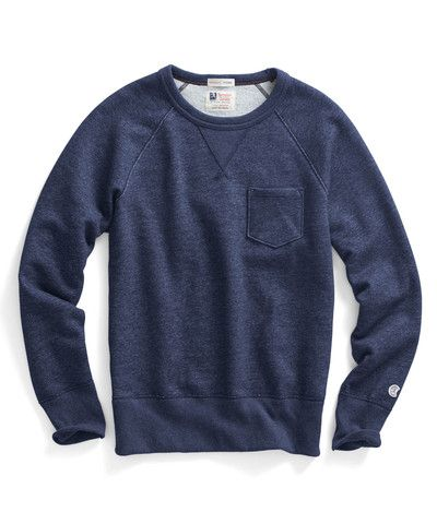 Champion Men/'s Fleece Crew Sweat Shirt NEW CLEARANCE.Size:M.Color Navy Heather.