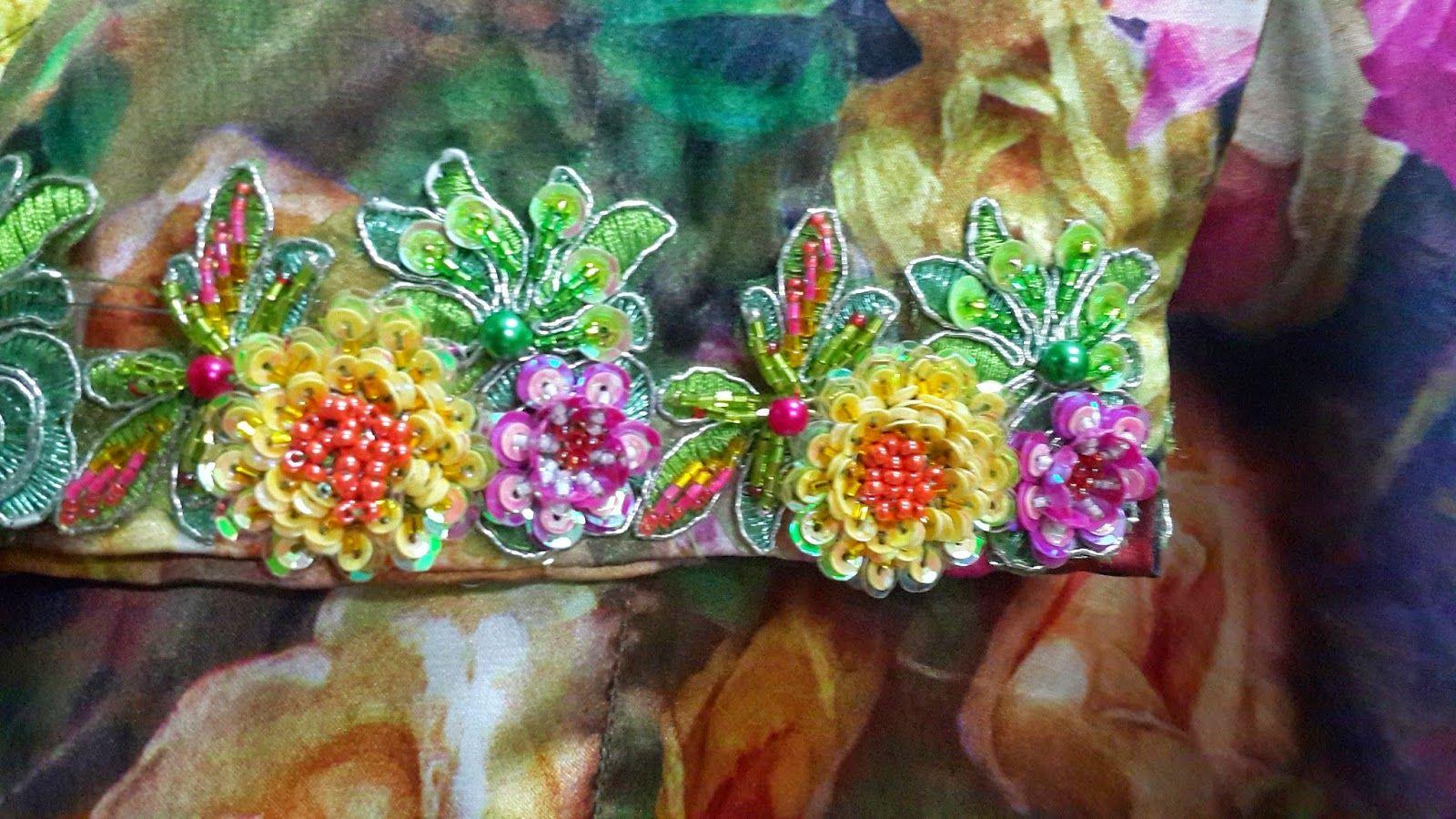 Bunga2 Cinta Utk Kak Liza Sulaman Payet