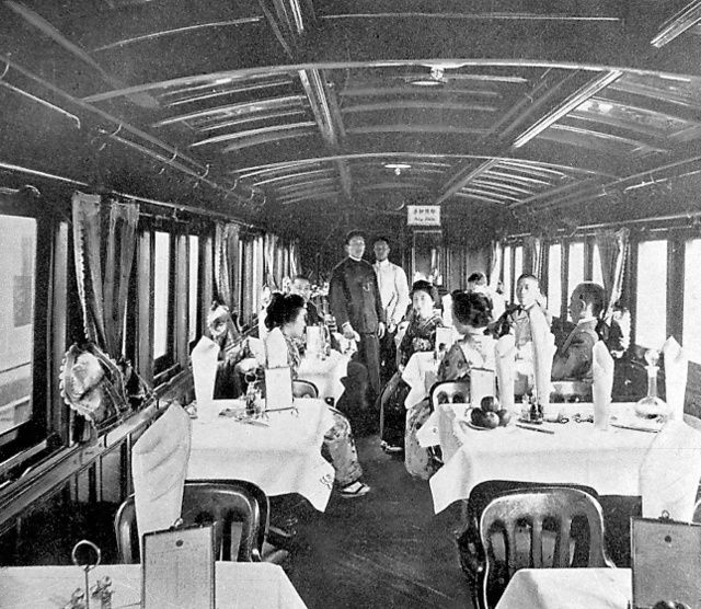 官設鉄道の食堂車(1901年営業開...