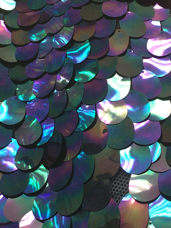 New iridescent clear jumbo teardrop 20x20.20 inch purple,teal,black ...