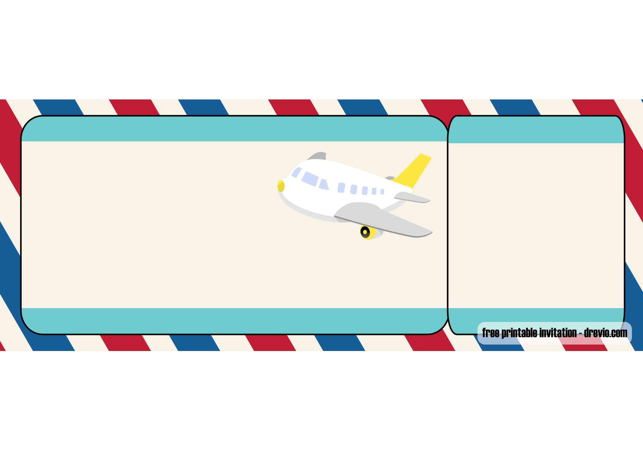 Free Airplane Ticket Birthday Invitation Templates Ticket Invitation Birthday Birthday Invitation Templates Printable Birthday Invitations