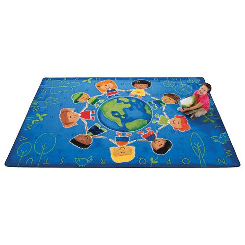 Found it at Wayfair - Printed Give The Planet A Hug Blue Area Rug