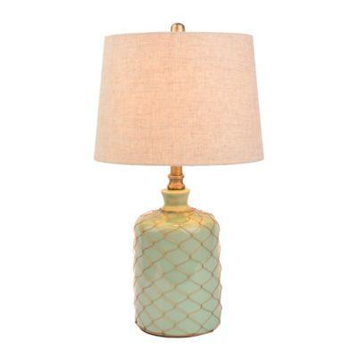 Netted Green Ceramic Table Lamp | Kirkland's