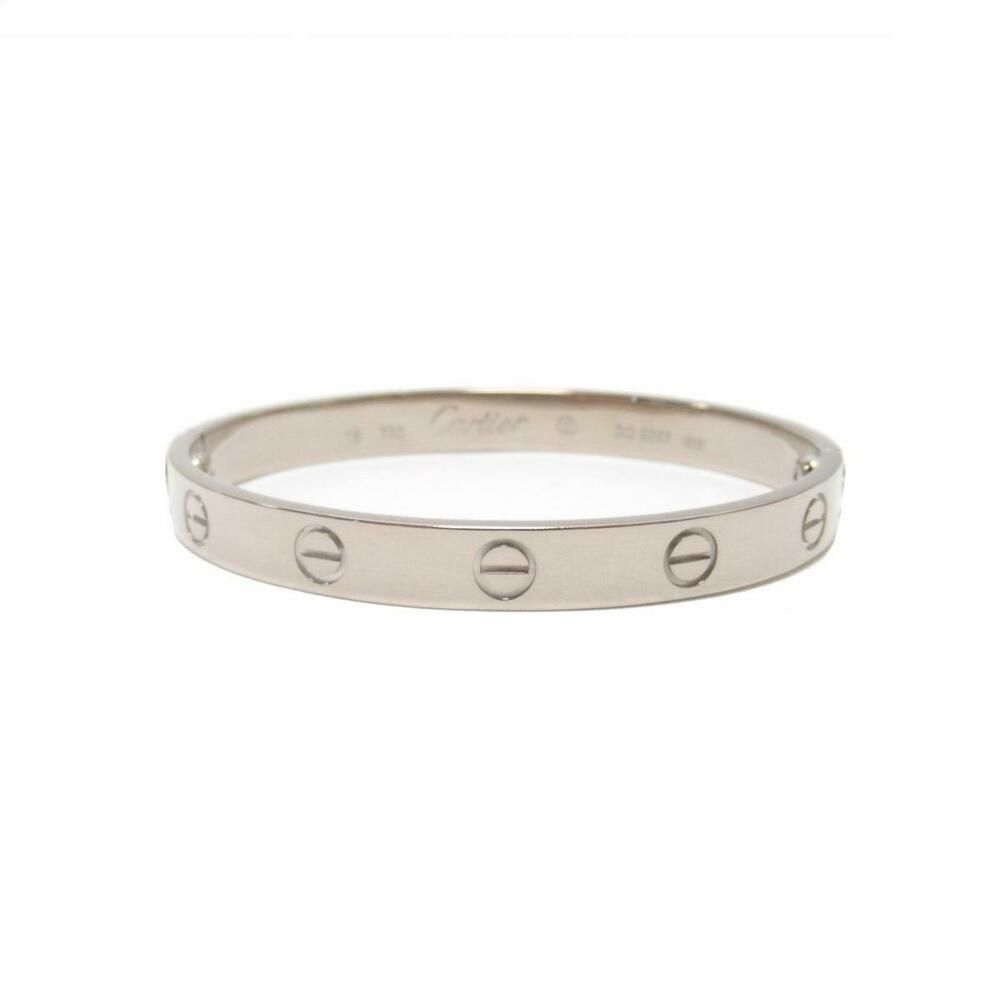 e0260e1aef417 eBay #Sponsored Auth Cartier Love Bracelet Bangle 18k White Gold ...