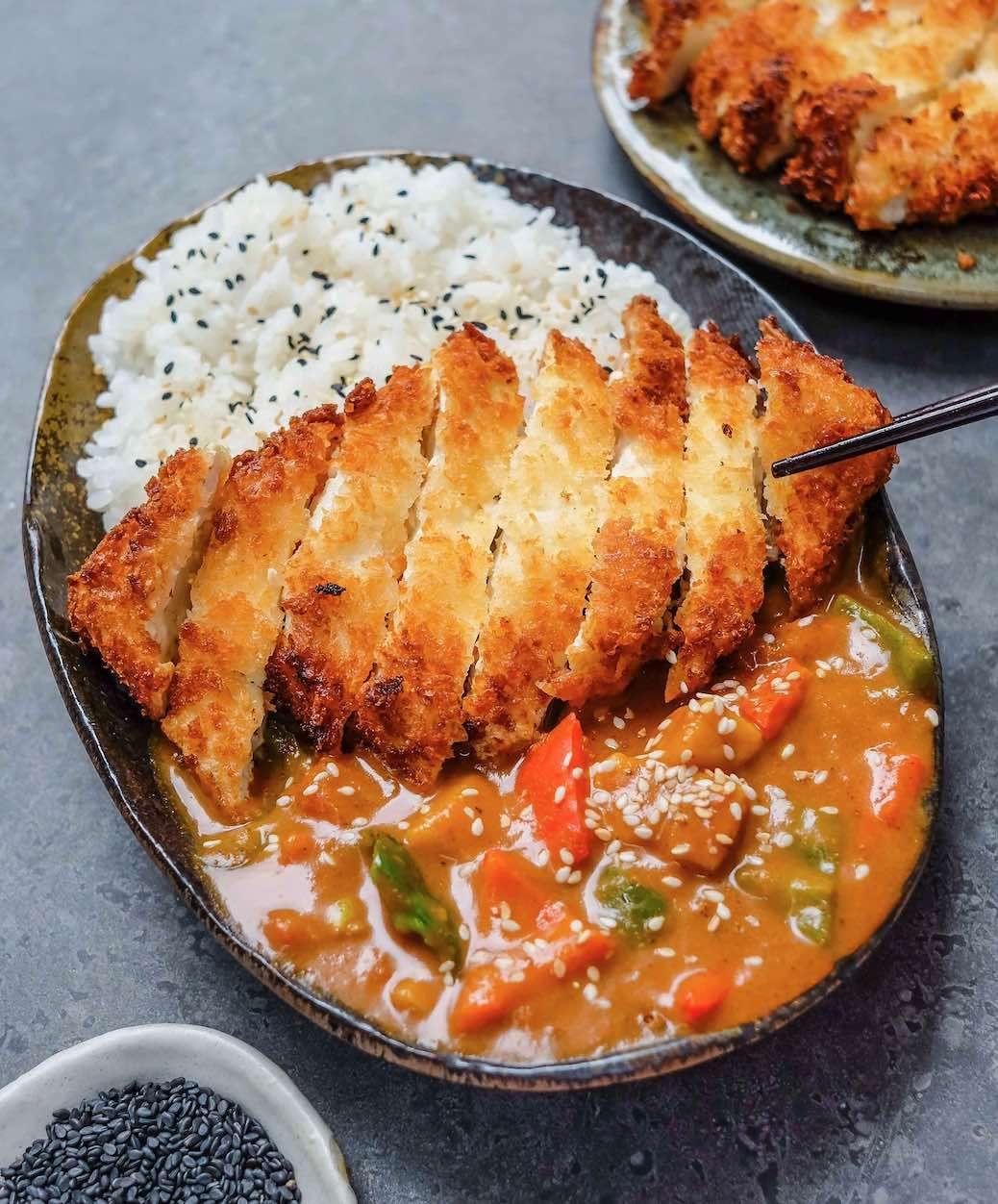 Tofu Katsu Curry Vegan Recipe Recipe In 2020 Katsu Recipes Japanese Curry Vegan Recipes Easy