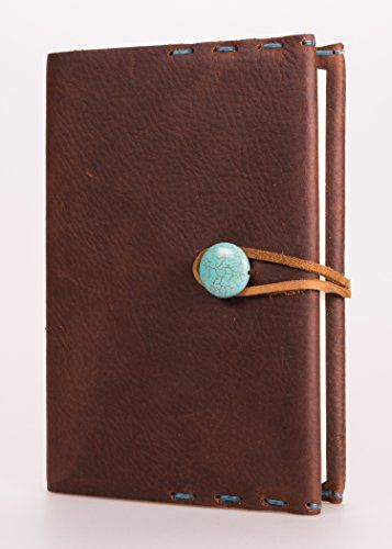 """Refillable 4"""" x 6"""" Handmade Leather Journal with Blank Cover(JS-30) *** You can find more details by visiting the image link. (Amazon affiliate link)"""