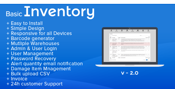 Basic Inventory  Stock Management And Invoice  Basic Inventory