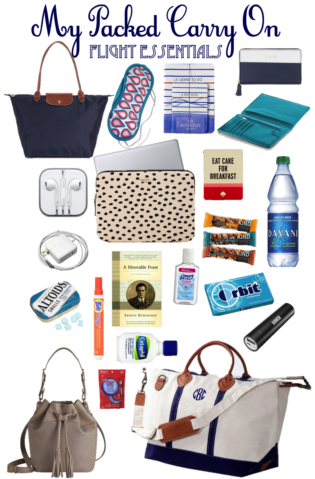 Prep In Your Step: What's In My Carry On / European Flight Essentials
