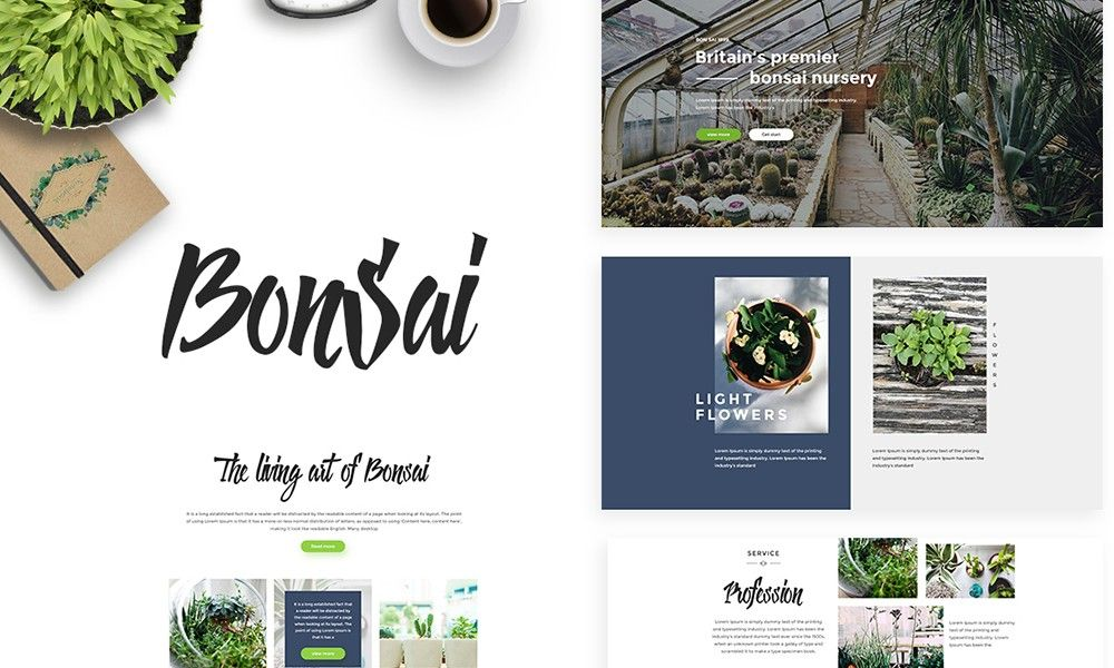 #Theme Of The 30 Aug 2017 Bonsai by @knightthemes  http://www.designnominees.com/themes/bonsai