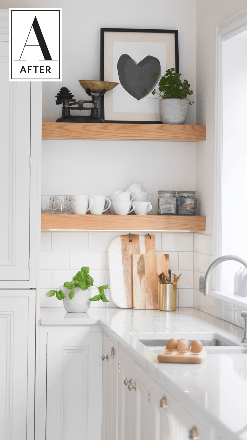 Budget-Friendly Before-and-After Kitchen Makeovers | Living Room ...