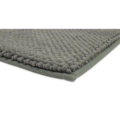 17 X24 Low Chenille Memory Foam Bath Rugs Mats Radiant Gray