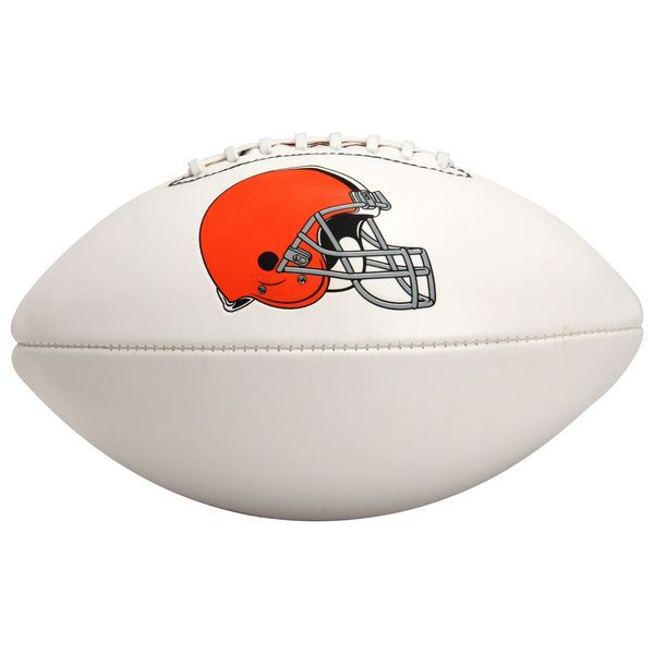 Wilson Cleveland Browns Full-Size Autograph Ball - White - $34.99