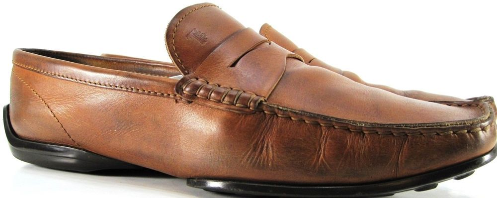9d57d44abc Tods Men Penny Loafer Driving Shoes Size 10.5 Brown Made In Italy #Tods  #DrivingMoccasins