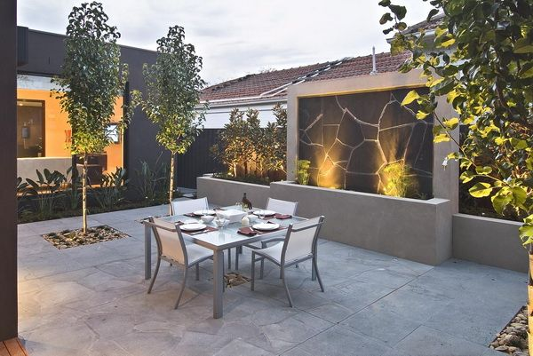 Contemporary Backyard With Asian Themes On Drake Street Melbourne By Cos Design