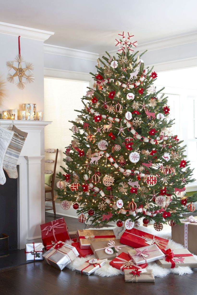 Albero Natale Decorato Rosso 36 the most beautiful diy christmas tree ideas you must try