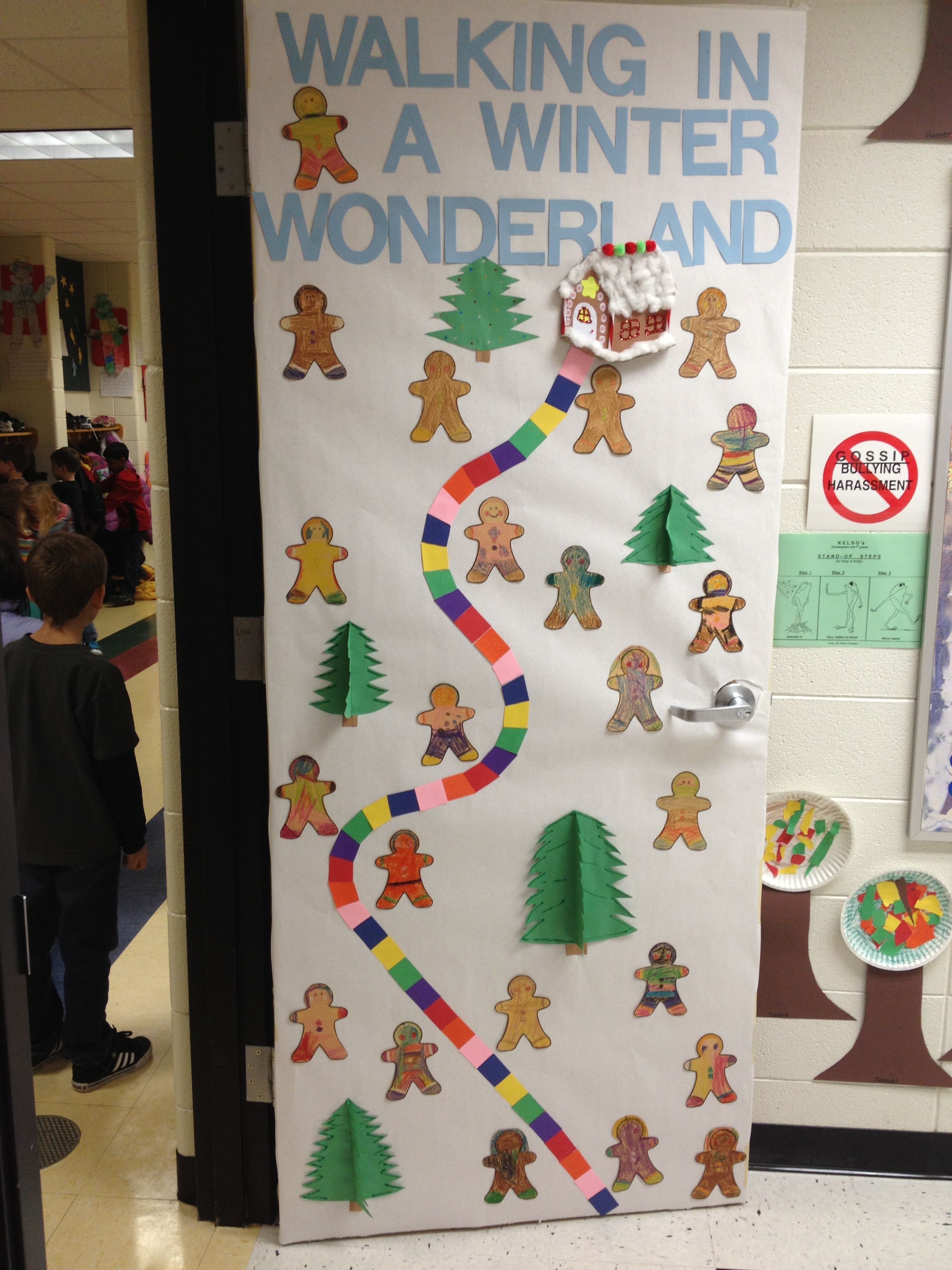 December Door Nice Idea For Decorated Door Contest At School For