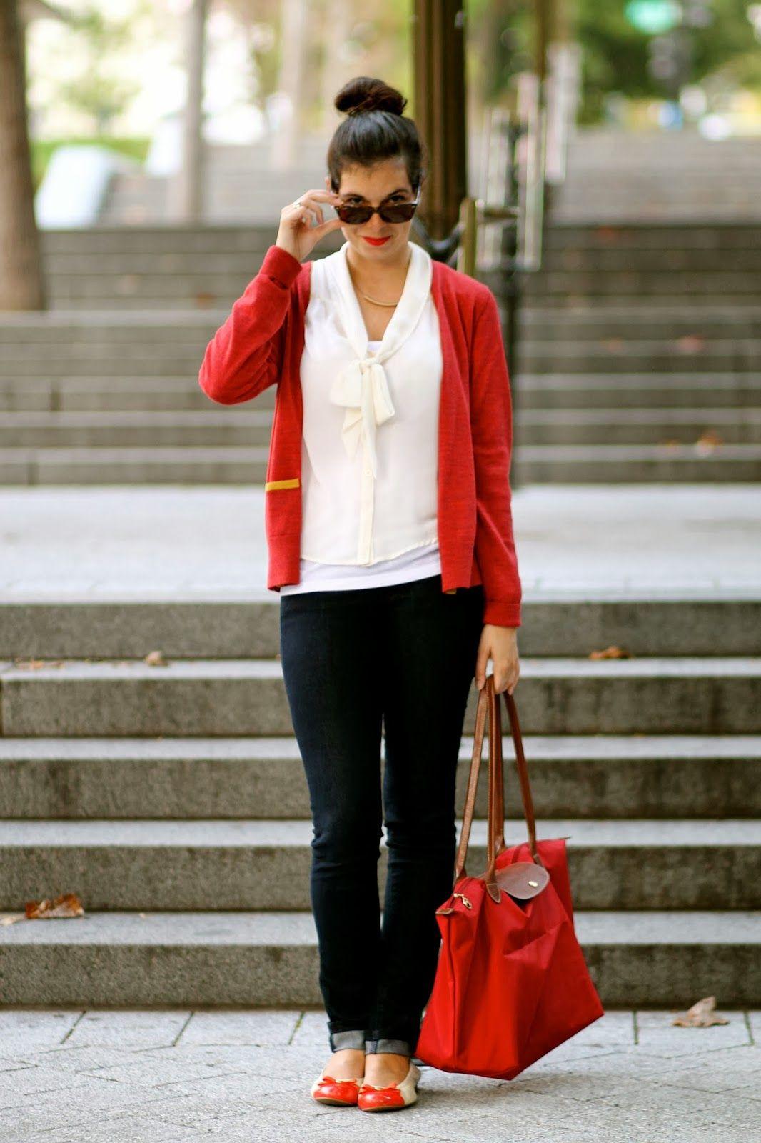 Longchamp Le Pliage Street Style