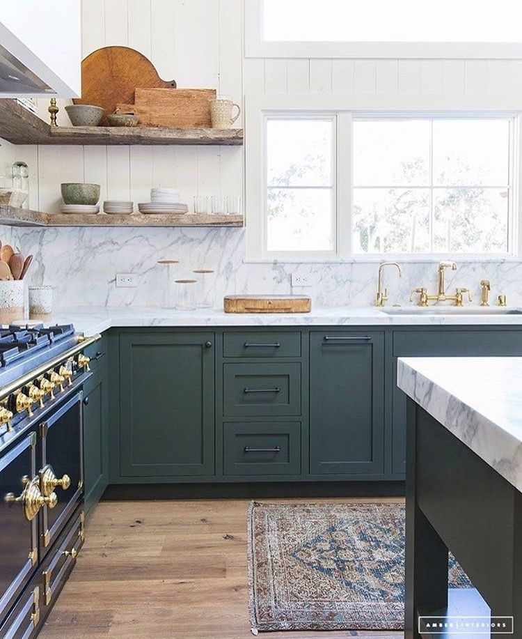 Rad Corner Shelving With Sweet Reclaimed Wood Shelves Have Spare Wood To Create Into Shelves Green Kitchen Cabinets Kitchen Cabinet Inspiration Kitchen Trends