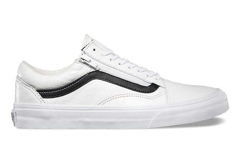 vans old skool cuir blanc