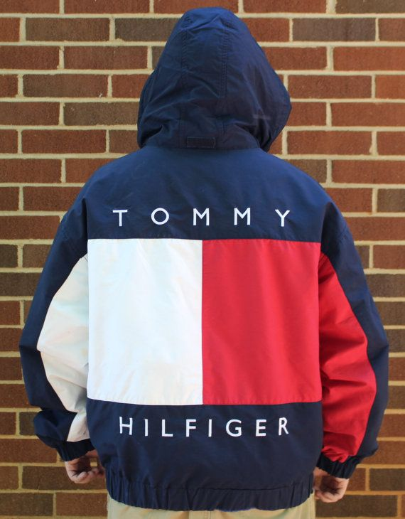 e89916a78bef Vintage Tommy Hilfiger Mens Hooded Coat Jacket XL by TheUnextreme ...