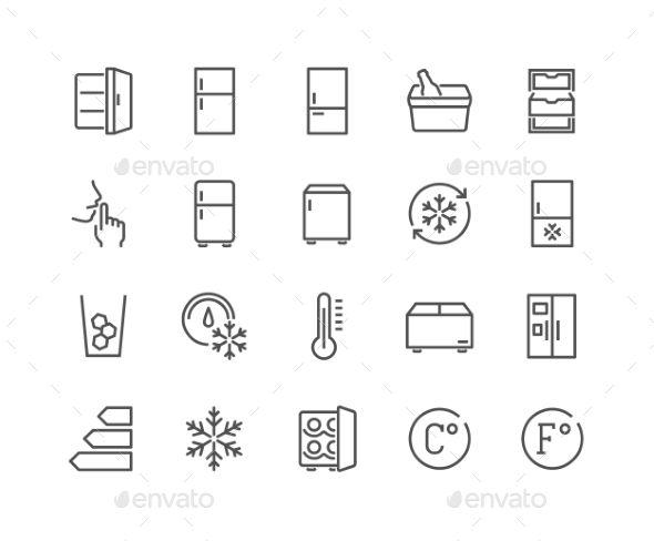 Line Fridge Icons Icon Design Inspiration Icon Simple Graphic
