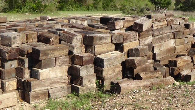 I had no idea that railroad ties were this thick. I guess ...