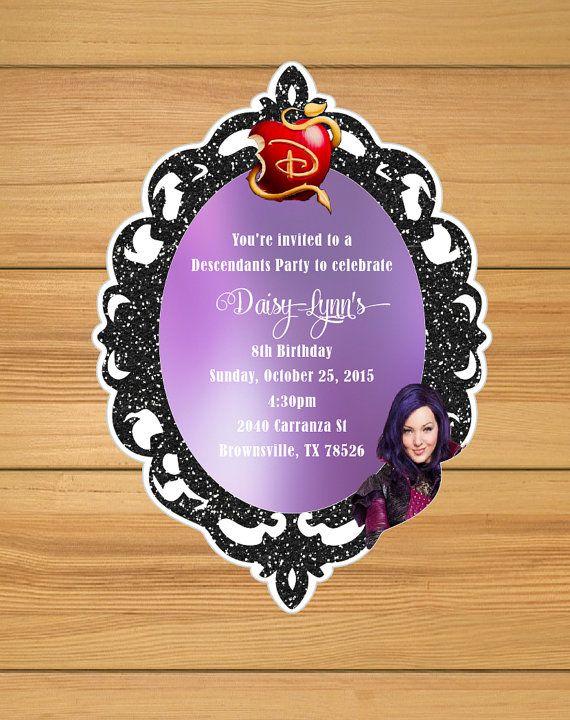 Descendants Party Invitations Mals By BirthdayPartyBox On Birthday Box