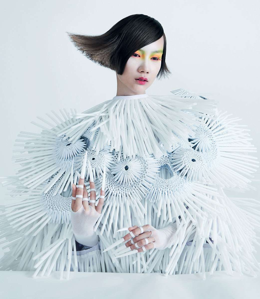 Причёски и фото команда стилистов Debut Hair Shanghai, Китай. Одежда Victor Goh.