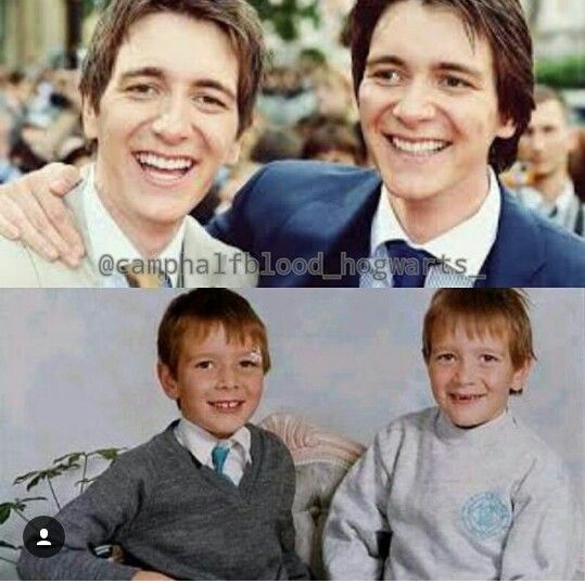 AWWWWW!!! Young James and Oliver Phelps. They are adorable ...