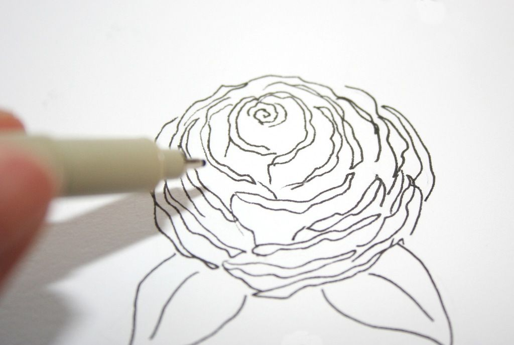 How to Draw a Rose easily and step by step
