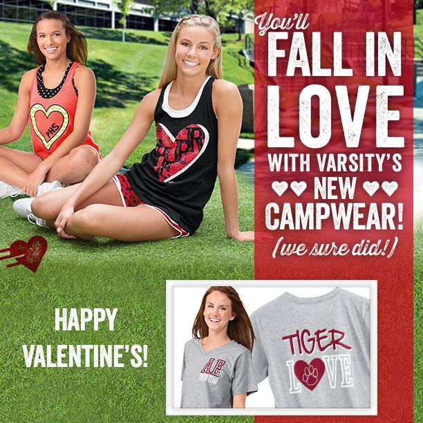 Get ready to fall head over heels for your favorite NEW Varsity campwear looks. We know you're going to love what you see! varsity.com/event/1582/art/1847/varsity-spirit-fashion