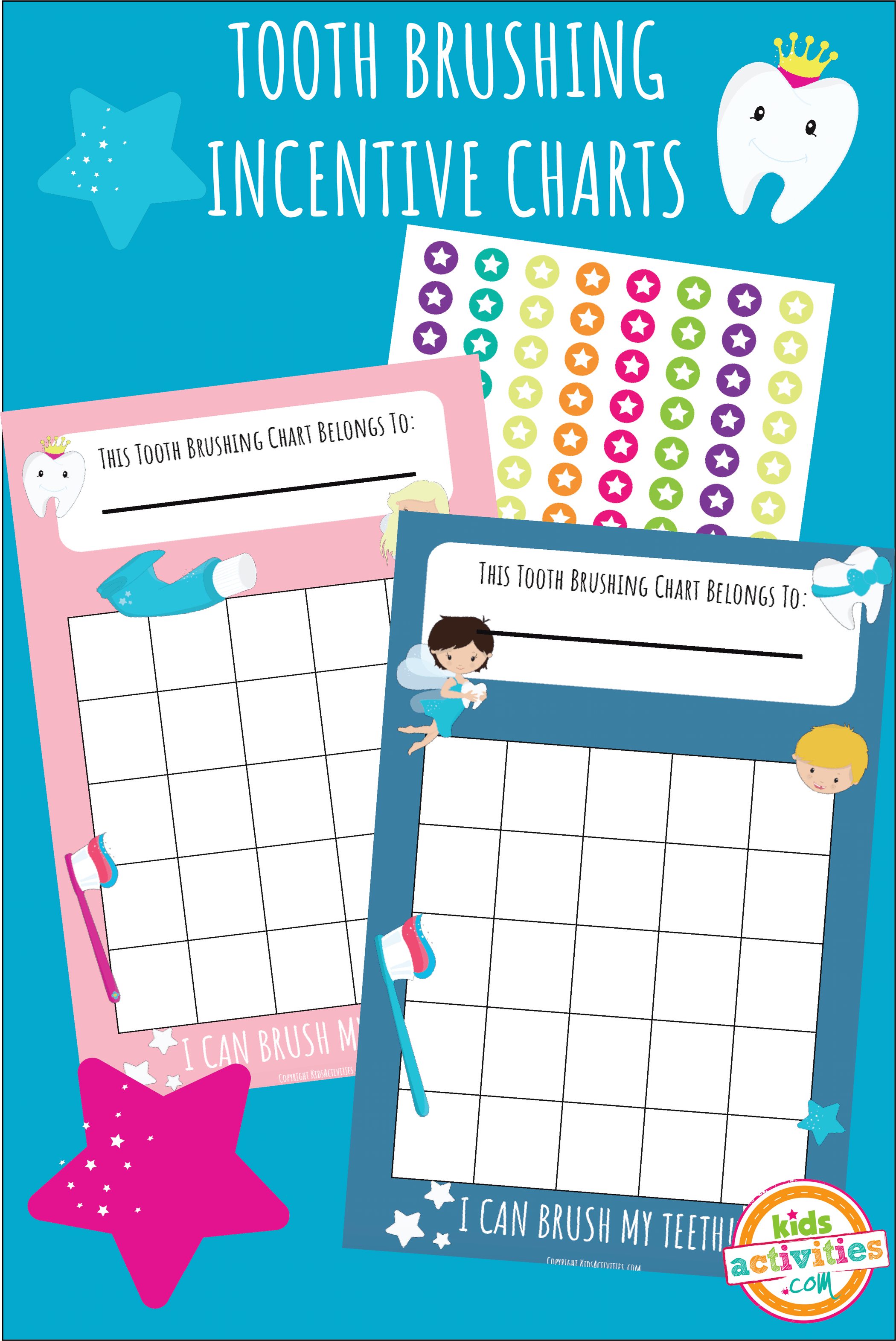Tooth Brushing Incentive Charts - Kids Activities | Kids Activities ...