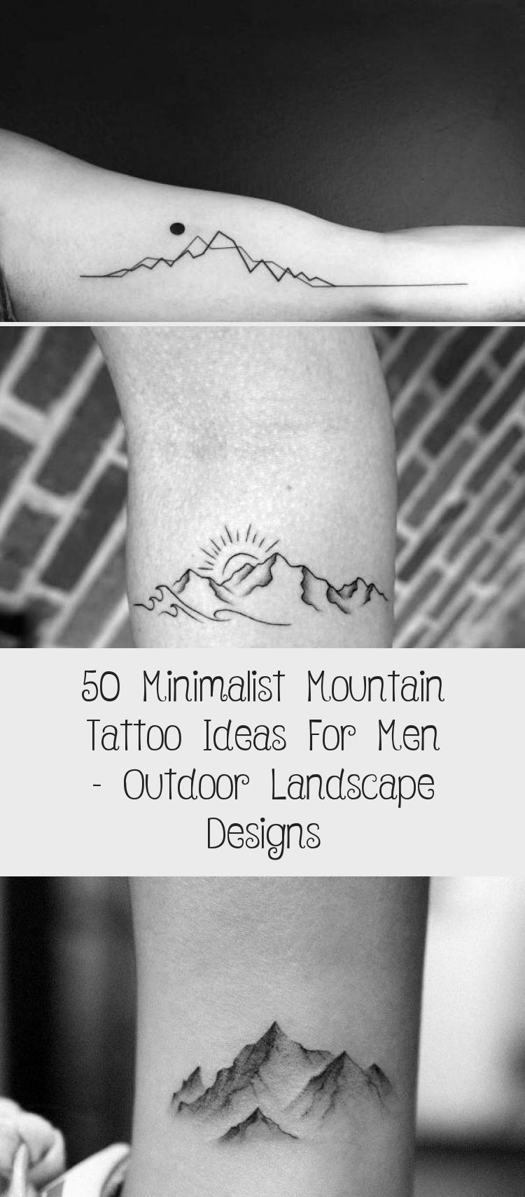 Photo of Amazing Mens Minimalist Mountain Tattoo Designs #minimalisttattooWave #minimalis…