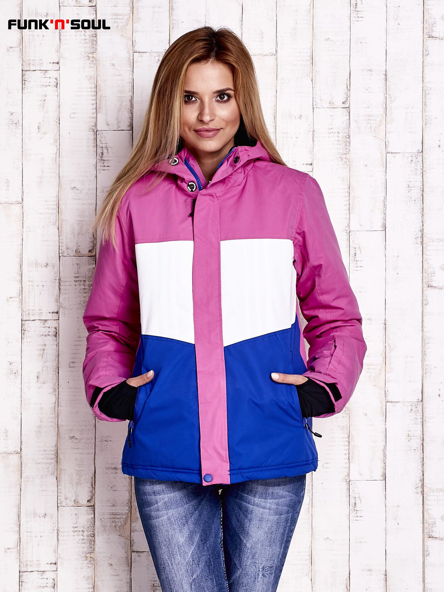 Rozowa Modulowa Kurtka Narciarska Z Kapturem Funk N Soul Zdj Sport Outfits Clothes Rain Jacket