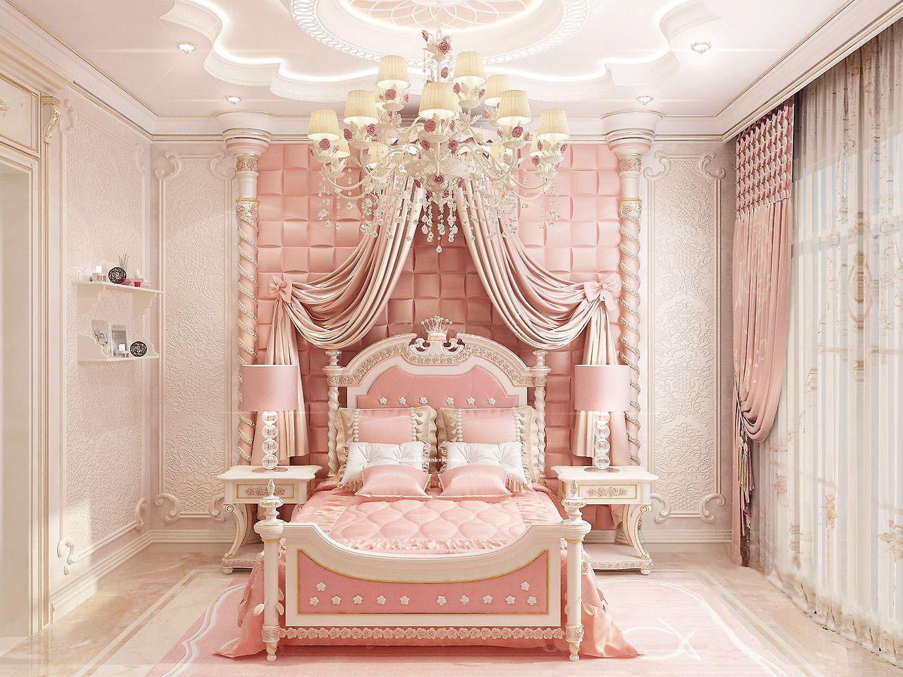 Sapere Aude Touch Of Pink Luxury Antonovich Design Princess Bedroom Set Bedroom Design Girl Bedroom Decor