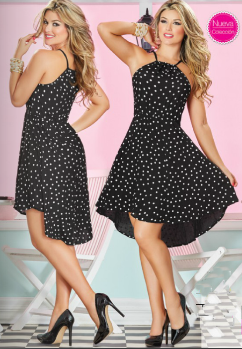 Modelos de vestidos en chalis estampado