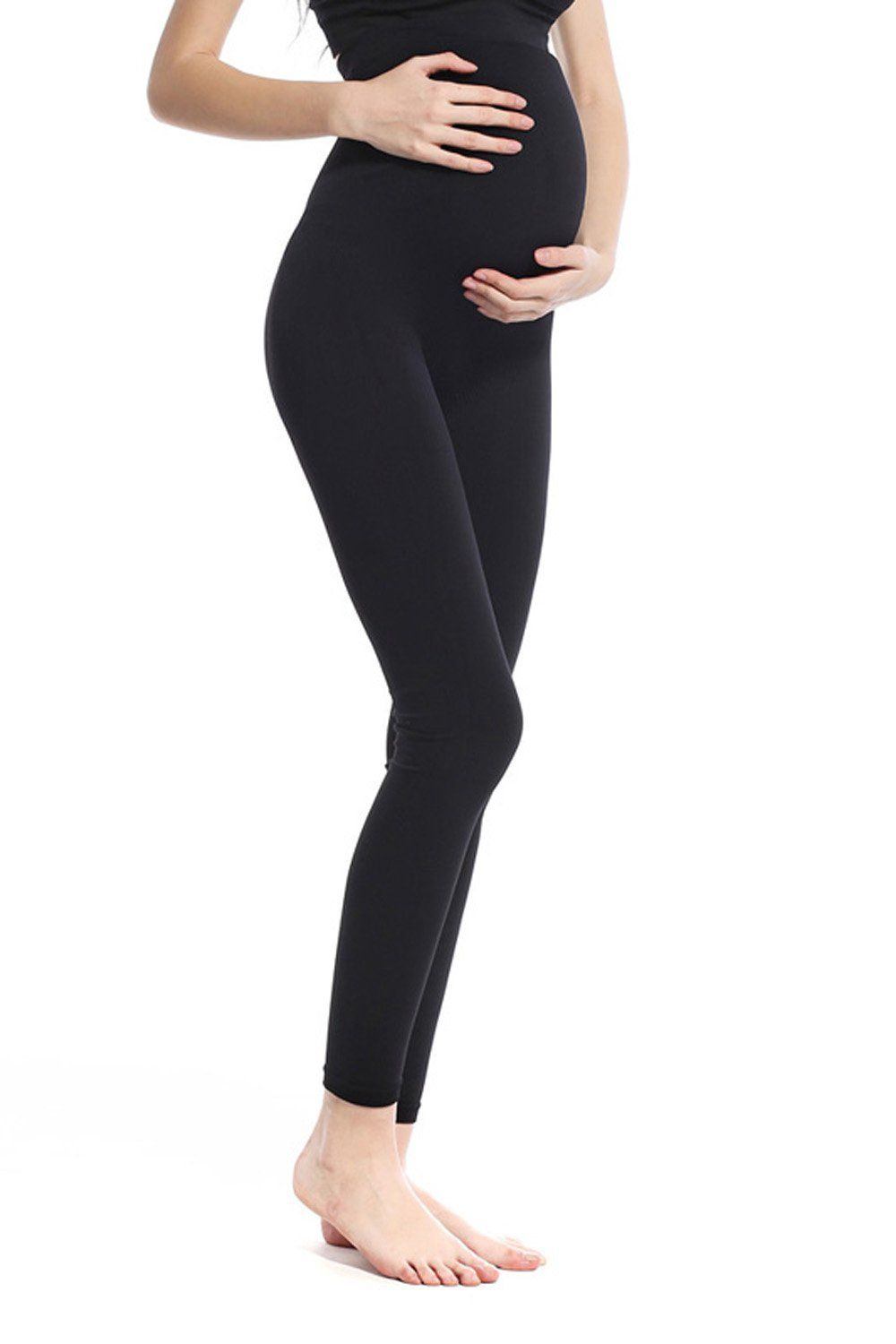 14c2c5ac1eb83 pregnancy workout - Khaya Womens Seamless Maternity Leggings Small Black *  Click photo for even more details. (This is an affiliate link).  #fitpregnancy