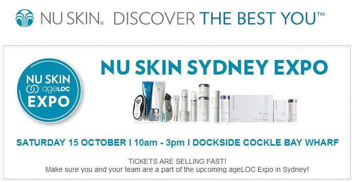 Expo Meet our Guest Speakers Purchase your Expo tickets ageloc Nuskin Sydney Australia 15 October 2016