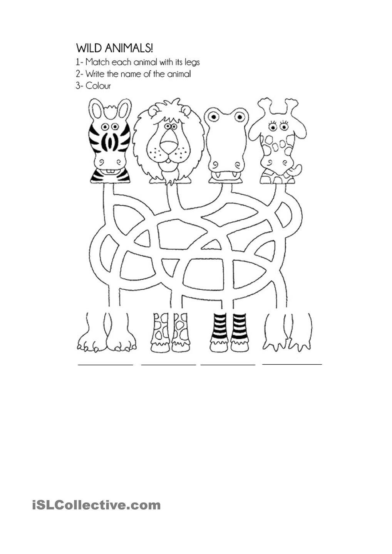 Wild Animals Animal Activities For Kids Animal Worksheets Animals Wild [ 1440 x 1018 Pixel ]