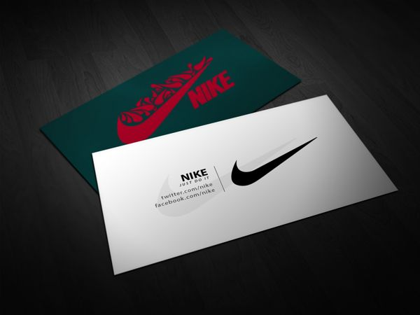 Nike business card on behance design reference pinterest nike business card on behance reheart Image collections