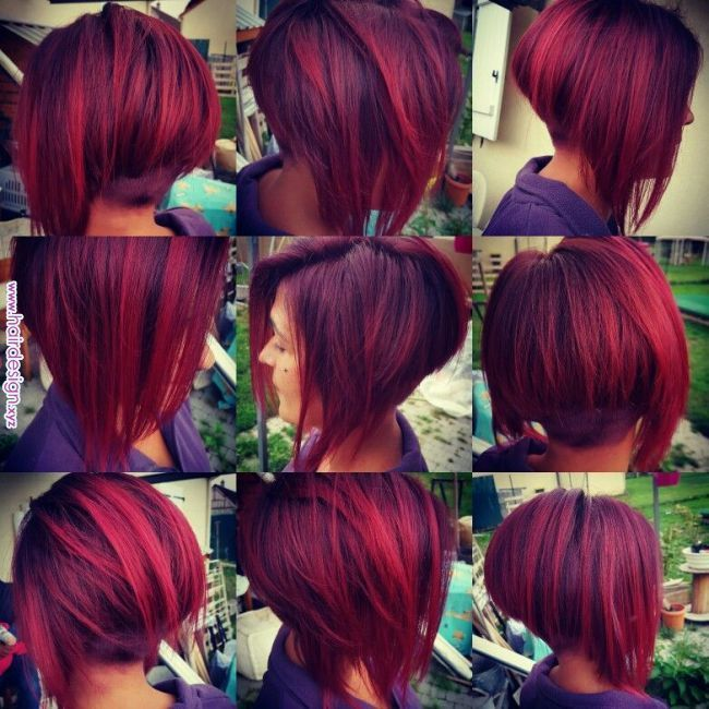 Couleur Framboise Păr In 2019 Pinterest Hair Hair Styles And Dark Red Ha In 2020 Short Red Hair Red Ombre Hair Cool Hair Color