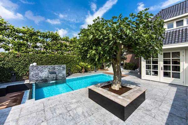 Awesome  Bilder von Pool im Garten exotisch palmen pool garten