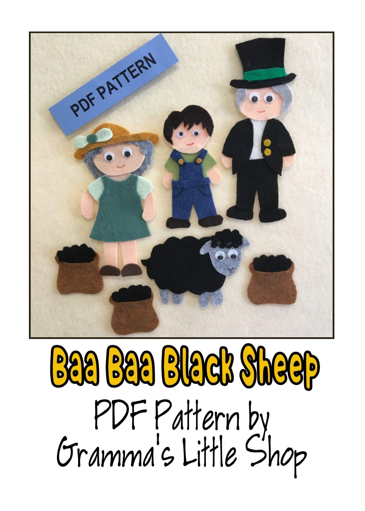 Baa Baa Black Sheep Felt Story Pattern