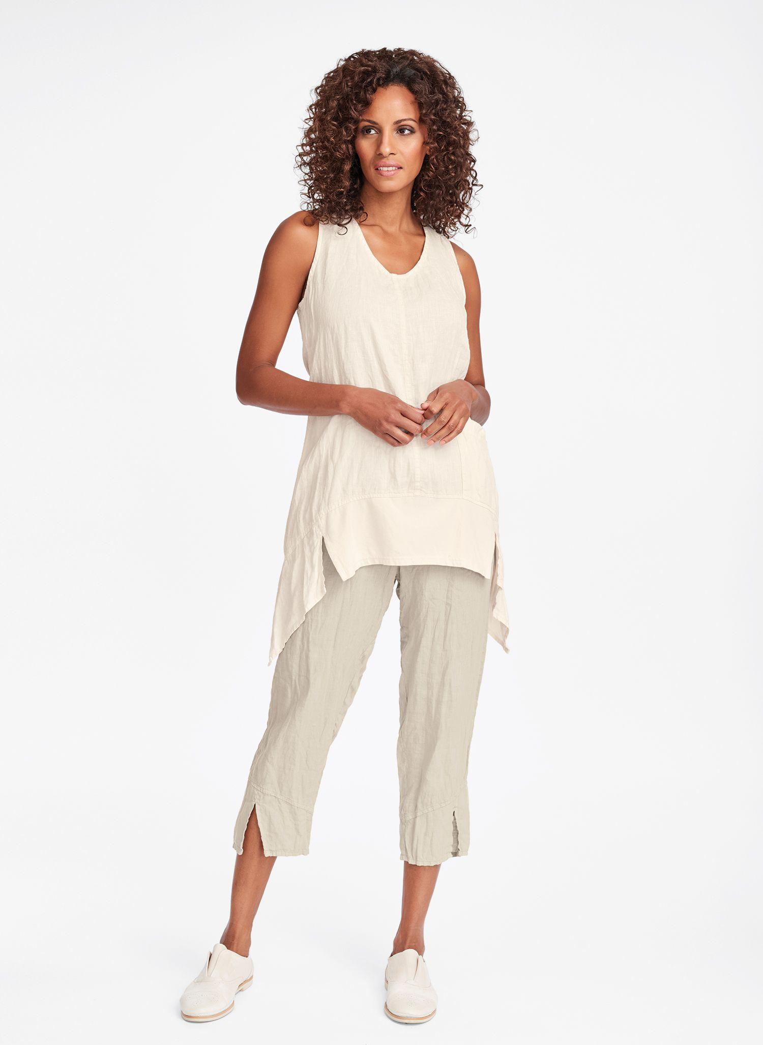 47e6324d094f2d Urban FLAX 2019 Womens Linen Clothing, Linen Pants, Spring Colors, Capri  Pants,