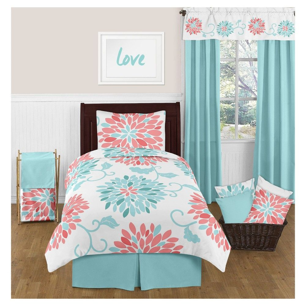 Coral And Teal Full Size Bedding Sets Teal And Coral Bedding Coral And Teal Floral 3piece Crib Bed Linens Luxury Teal Rooms Teal Bedding Sets